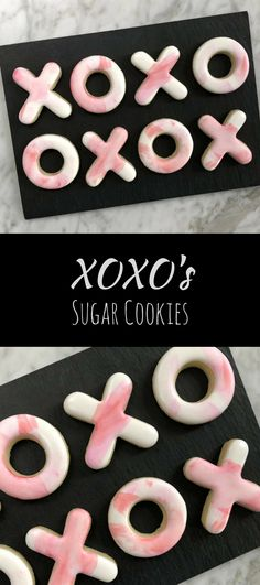 Valentine's Watercolour XO Cookies - One Dozen #affiliate