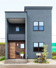 Liv Caswell Small house design industrial What Does Autism Box House Design, Modern Small House Design, Small House Exteriors, Modern Minimalist House, Small Modern Home, Modern House Plans, Home Building Design, Building A House, Facade House