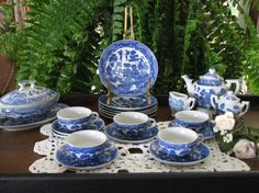 Blue Willow China set I had as a child.  (rac)
