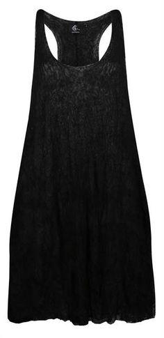 Vestido de tule de algodão preto perolado com duas camadas.  - Visite Riachuelo.com.br