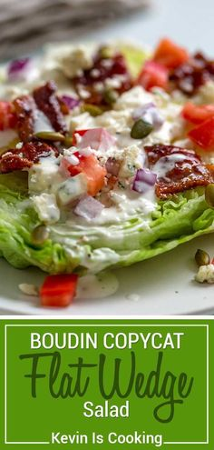 Could You Eat Pizza With Sort Two Diabetic Issues? This Flat Wedge Salad Has Bacon Basted With A Spicy Sweet Cayenne And Maple Syrup, Lots Of Bleu Cheese Dressing, Diced Tomatoes And Sunflower Seeds Wedge Salad Recipes, Chicken Salad Recipes, Pasta Recipes, Cooking Recipes, Paleo Dinner, Dinner Recipes, Cheese Salad, Ham Salad, Spinach Salad