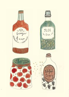 Some little bottle drawings | Katt Frank