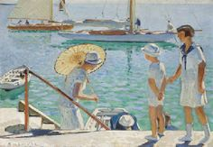 Raoul du Gardier produced mostly genre scenes and many seascapes. Interestingly, his wife is almost always present in his prints. He also illustrated several books, one of which was Les Grandes croisières by Paul Chack.