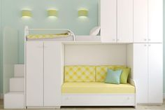 Decorate your room in a new style with murphy bed plans Cool Kids Bedrooms, Girls Bedroom, Kid Bedrooms, Cama Murphy Ikea, Decor Room, Bedroom Decor, Bedroom Fun, Peaceful Bedroom, Modern Bunk Beds