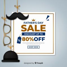 Father's day sales | Free Vector #Freepik #freevector #sale #love #gift #family Father's Day, Fathers Day Sale, Vector Free, Layouts, Illustrations, Design, Children, Gift, Poster