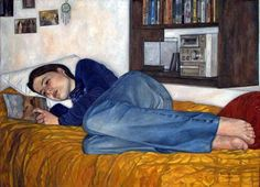 Burca, Erin de (1982-...) Alba reading