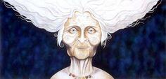 print Old Silverhead - artwork by Carolyn Hillyer