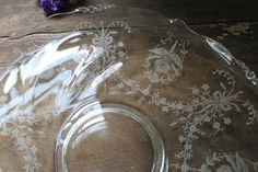 Vintage Heisey Clear Glass Etched Orchid by SouthernVintageGa, $40.00