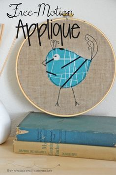 Free Motion Applique is the easiest way to take a simple design and give it a little boost. Best of all, it takes very little time or skill. - The Seasoned Homemaker