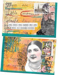 Made for @ihanna's Fall 2015 Postcard Swap by Linda Gibbons #diypostcardswap #mailart