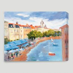 One of my favorite discoveries at WorldMarket.com: 'La Roschelle Harbour II' by Karen Wilkerson