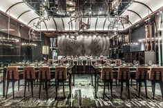 Industrial, love it... AMMO Restaurant by Joyce Wang, Hong Kong store design