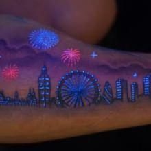 UV city tattoo (glows under blacklight)