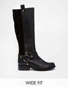 ASOS | ASOS C'MON GIRL Wide Fit Leather Knee High Boots at ASOS