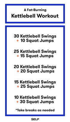Grab a 'bell and try this fat-burning kettlebell workout. By doing these two moves back-to-back, you'll work up a killer burn.