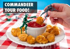 """""""Commandeer your food!"""" that made me LOL"""