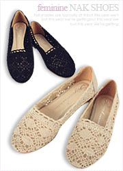 full crochet lace flats  CODE: NAKSH5-1056  Price: SG $73.85 (US $59.56)
