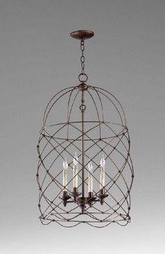 Cyan Adele Foyer Pendant, Bronze - contemporary - pendant lighting - Candelabra