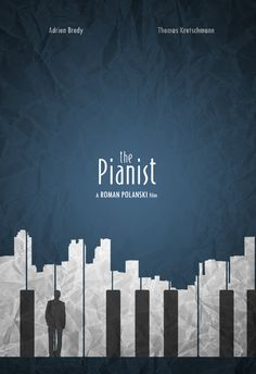 I love this Minimalist version of The pianist poster!