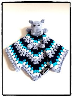 crochet hippo lovey, cute blanket..
