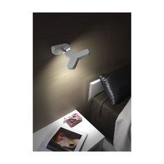 MICRON - LAMPADA DA PARETE 1 O 2 LUCI VARIE FINITURE LED