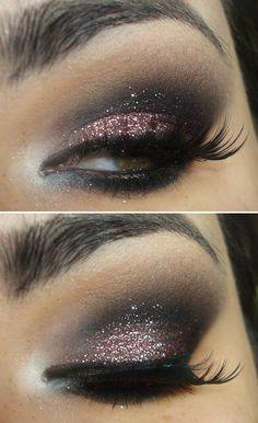 Maquiagem com o glitter Pink da MAC