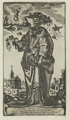 Death card from a medieval tarot deck.