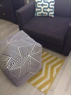 Make an Easy DIY Floor Pouf for $35 or less