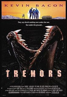 Tremors Movie Poster x 40 Inches - x -(Kevin Bacon)(Fred Ward)(Finn Carter)(Michael Gross)(Reba M Horror Movie Posters, Film Posters, Horror Movies, Funny Horror, Halloween Movies, Scary Movies, Good Movies, Movies And Series, Childhood Movies