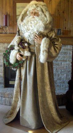 lifesizesantas Christmas Scenes, Victorian Christmas, Vintage Christmas Ornaments, Primitive Christmas, Christmas Mantles, Christmas Decor, Father Christmas, Santa Christmas, Christmas Villages