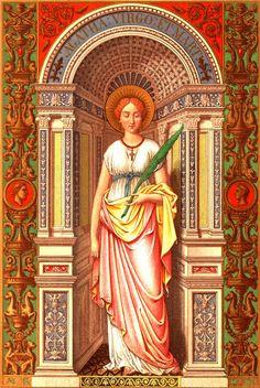 Sainte Agathe, vierge et martyre en 251 à Catane (Sicile)