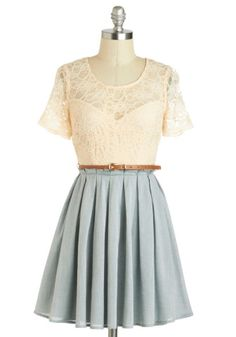 Sage Latte Dress   Mod Retro Vintage Dresses   ModCloth.com