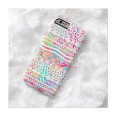 White Tribal Abstract Aztec Neon Rainbow Splatters Barely There Iphone... ($43) ❤ liked on Polyvore featuring accessories, tech accessories, phone cases, phone and cases