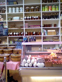Fallon & Byrne shelves - at the Cheese & Charcuterie counter