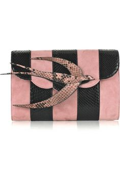 Miu Miu=pink N black Bird #Clutch OMG I sooooooooo need this!