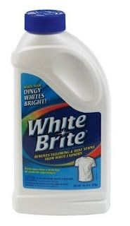 To turn whites back to white - a blogger discovered the secret - it's called White Brite and it sells for about $4.00 for a 22 oz bottle (a much better value!)    I followed the instructions on the bottle for pre-soaking and mixed 1/2 cup White Brite in a plastic container with 1 gallon of warm water and let soak for about 20-30 minutes, then washed as usual.