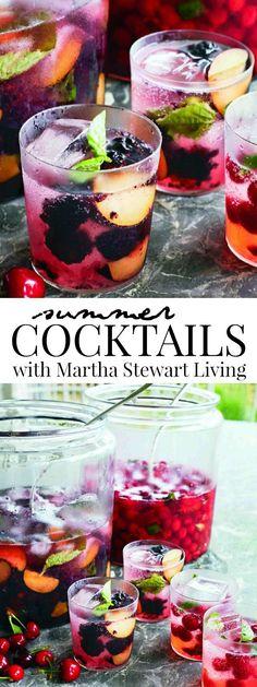 Summer Cocktails with Martha Stewart Living #summercocktails