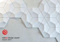 """ARSTYL® Wall Tiles, designed by @mac2578 Stopa, win the """"Red Dot"""" for high design quality in both category 26, """"Interior Design"""" & category 28, """"Materials and Surfaces""""."""