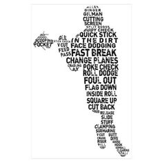 Lacrosse Terminology Wall Art Poster