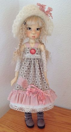 Sundress Outfit with Floppy Mohair Hat Fits Kaye Wiggs MSD Body Like Miki by DCH | eBay