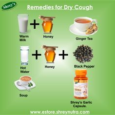Dry cough can come up for various reasons such as an irritation or inflammation in the throat or chest. Whether it's from viral infections, air pollutants or allergies, a few home remedies presented here can help alleviate the symptoms. Shrey's Garlic Capsules are a potent solution to prevent cough and colds. Shop Now for Flat 15% Off at http://goo.gl/l2jR0m #Health #Herbals #Supplements #Immunity