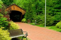 Covered bridge in Olmsted Falls Ohio.