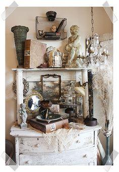 Vintage vignettes, vintage display, antique booth displays, antique booth i