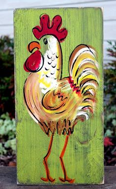 Rustic Rooster Painting   Simply Southern Signs   Bourbon & Boots