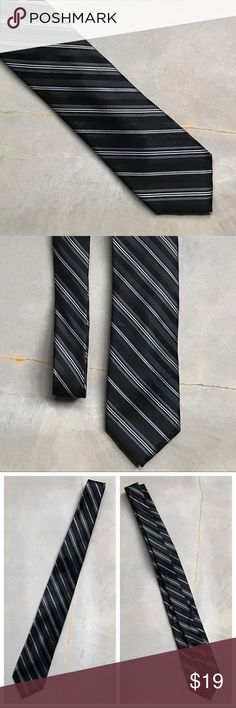 Perry Ellis Portfolio Black Gray White Stripe Tie Mens Perry Ellis Portfolio Black Gray White Stripe Tie  100% Silk Dry Clean Only  Very Good Condition! I will be adding more ties, so bundle to save! Perry Ellis Accessories Ties