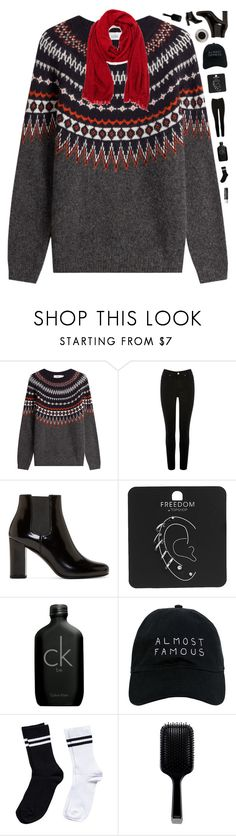 """""""A weather in need of a sweater"""" by genesis129 ❤ liked on Polyvore featuring Closed, Oasis, Yves Saint Laurent, Topshop, Calvin Klein, Nasaseasons, Bunn, Pieces, Chapstick and GHD"""