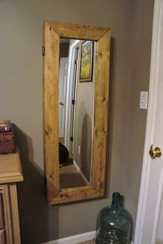diy mirror jewelry armoire   Jewelry Storage for Small Spaces: Fits in your Tiny House or Cottage