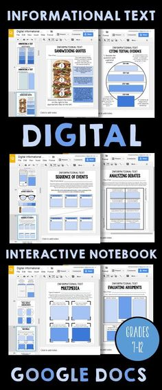 This is a DIGITAL Interactive Notebook for grades 7-12 that focuses on informational text pieces.  Students are given a link to access the interactive notebook through Google Slides!