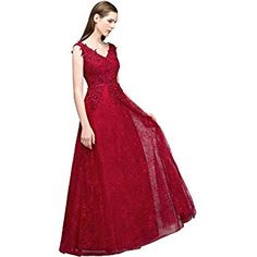 395b1ebd7e37ae Damen elegant Spitze Perlstickerei Ballkleid Brautjungfernkleid  Abschlusskleid Kleid Jugendweihe Abschlussball