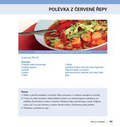 Dieta pro diabetiky - polévka z červené řepy Salsa, Ethnic Recipes, Diet, Pork, Turmeric, Salsa Music